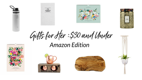 christmas gift ideas for her under 30 from amazon