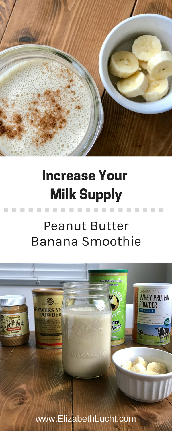 peanut butter banana smoothie | increase your milk supply