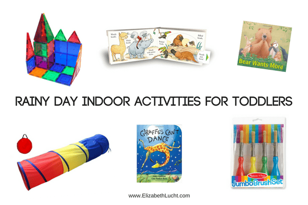 Tip Tuesday: Rainy Day Indoor Activities for Toddlers [Some of Aria's Current Favorite Books & Activities]