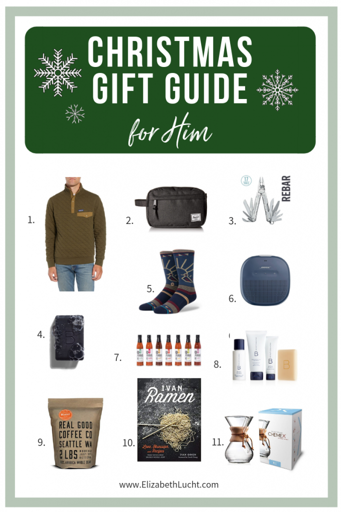 christmas gift guide for men brothers husbands dads boyfriends | elizabeth lucht