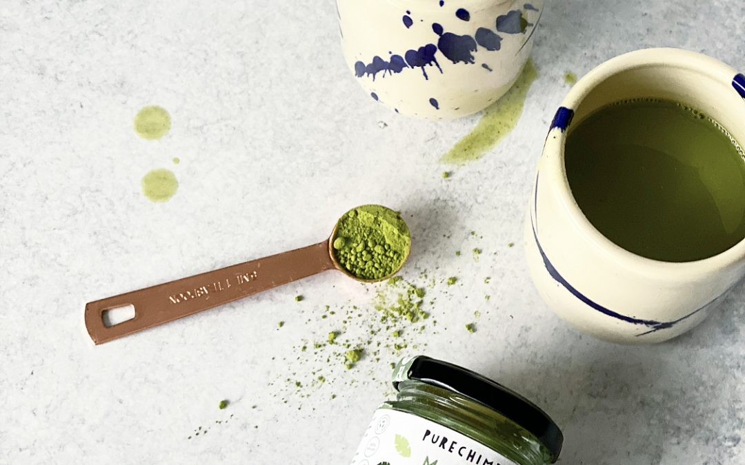 Collagen-boosted Ginger Matcha Latte Recipe (& a GIVEAWAY!)