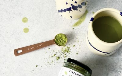 Collagen-boosted Ginger Matcha Latte Recipe (& a GIVEAWAY-CLOSED!)